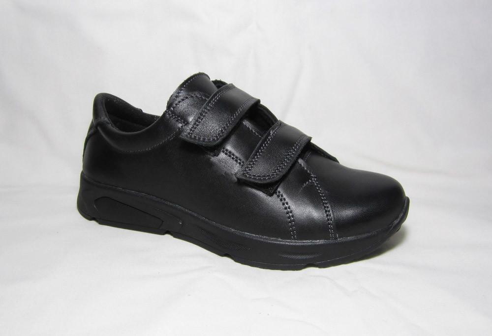 Детская обувь туфли на липучках для мальчиков кожа с 32 по 40 р фото №1