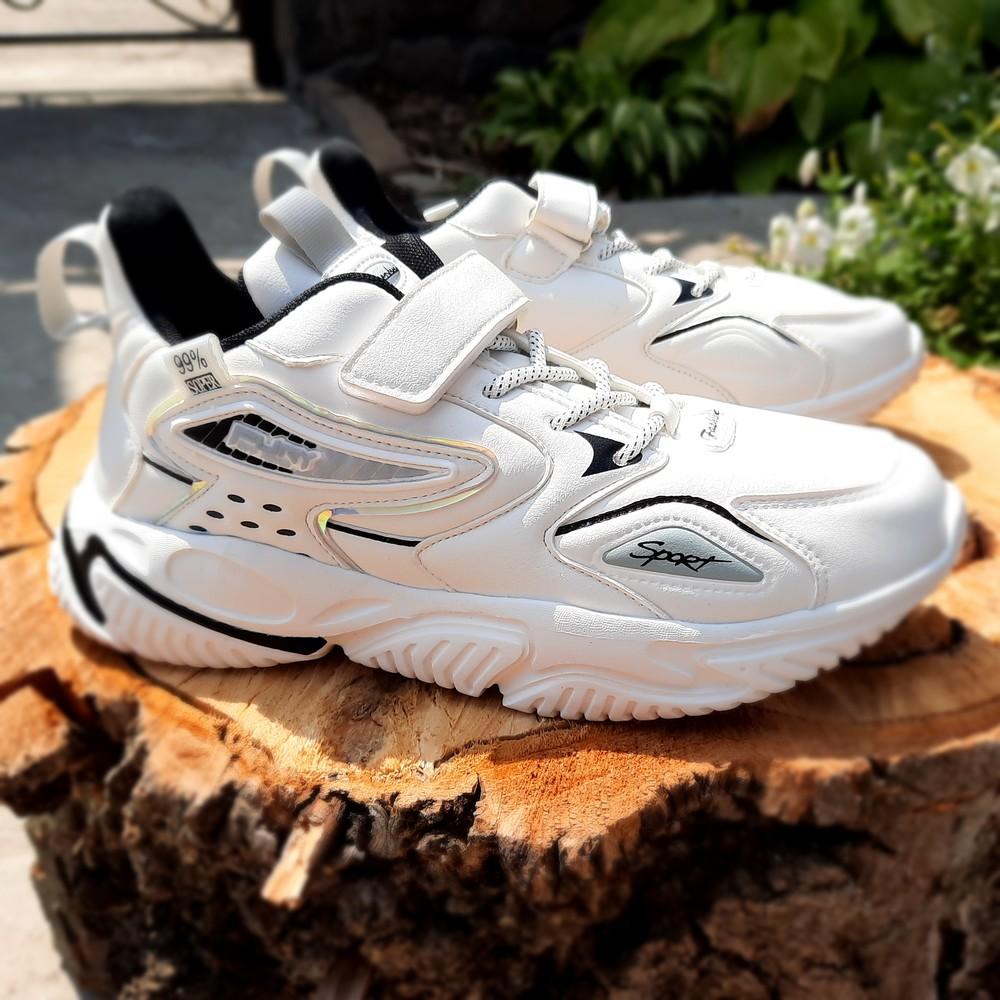 Белоснежные кроссовки на девочку 32-37 фото №1