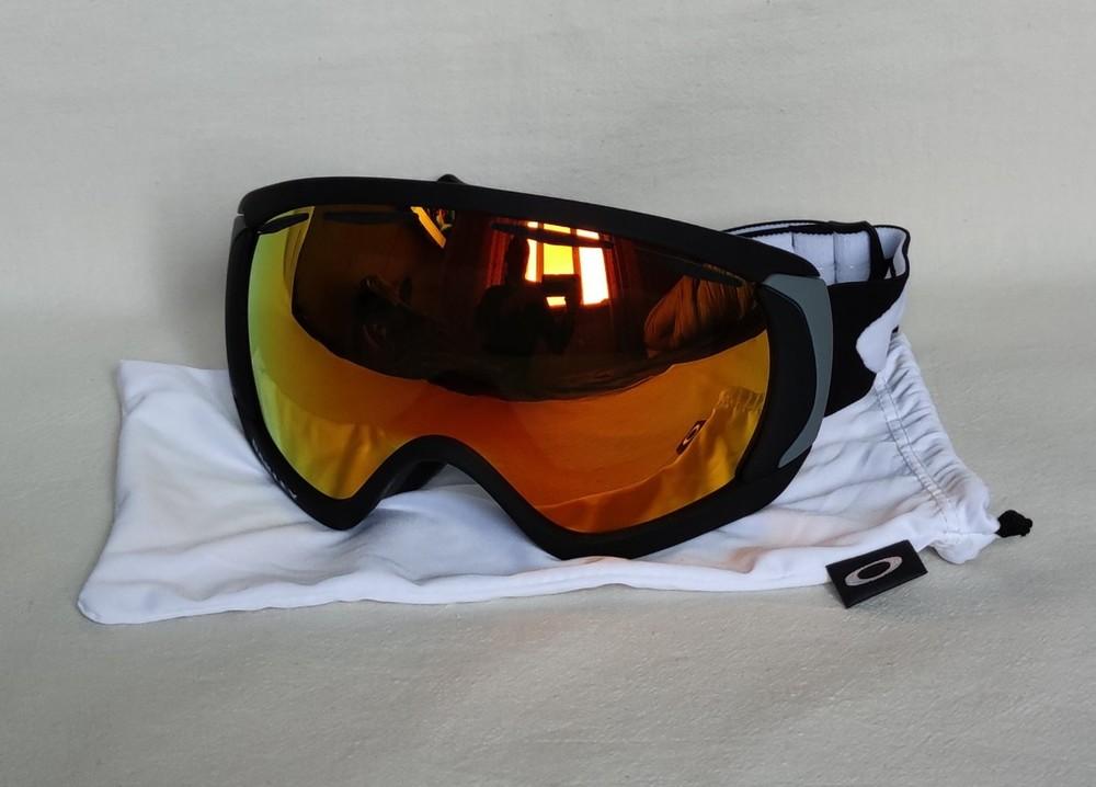 Горнолыжная маска oakley canopy matte prizm snow torch iridium фото №1