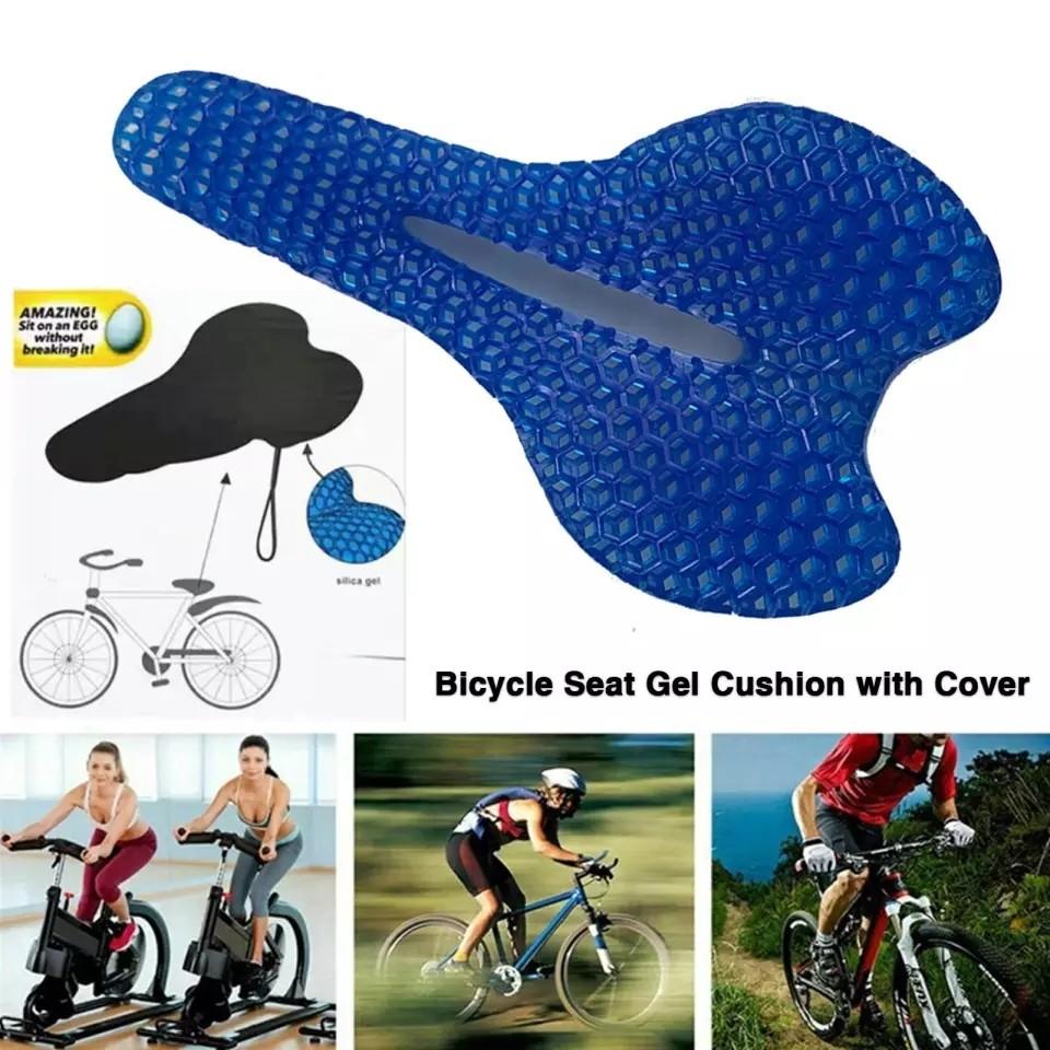Гелевая подушка для велосипедного сидения на велосипед фото №1