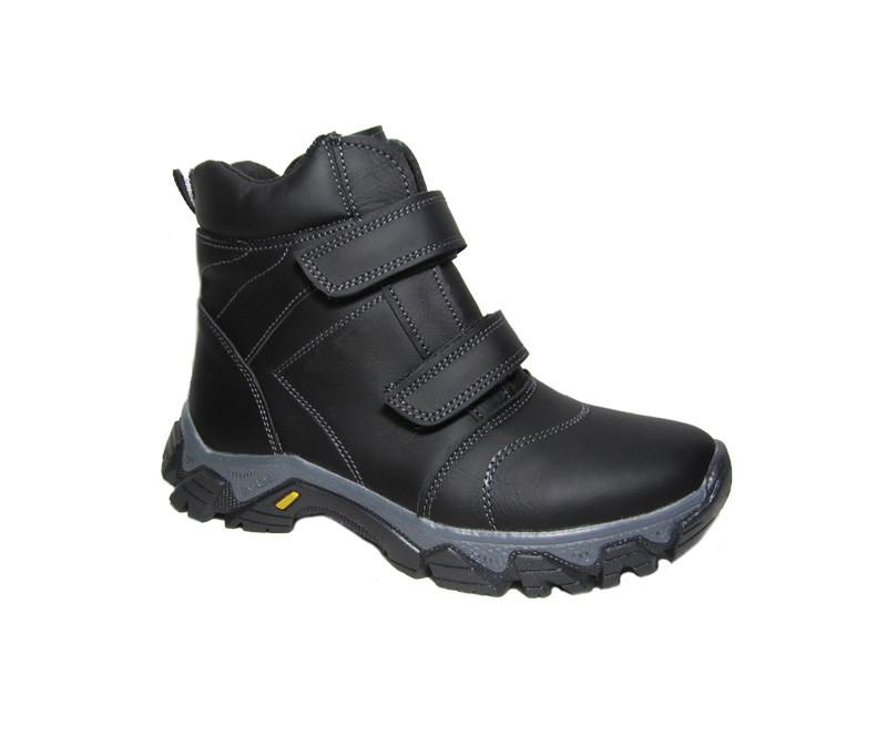 Детские зимние ботинки для мальчиков на липучках 32 33 34 35 36 37 38 39 40 р фото №1