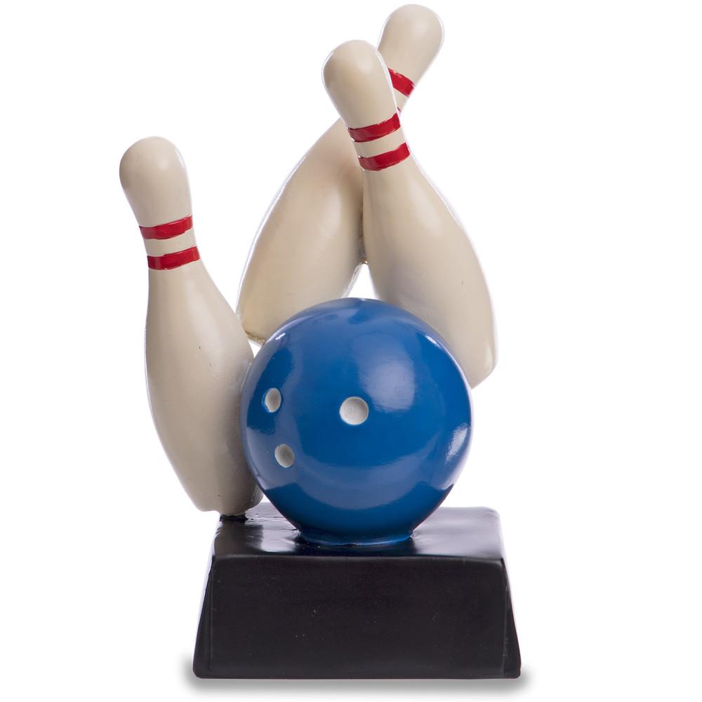 Награда спортивная боулинг (статуэтка наградная кегли для боулинга) 4270-b8: 16 x 9 x 6см фото №1
