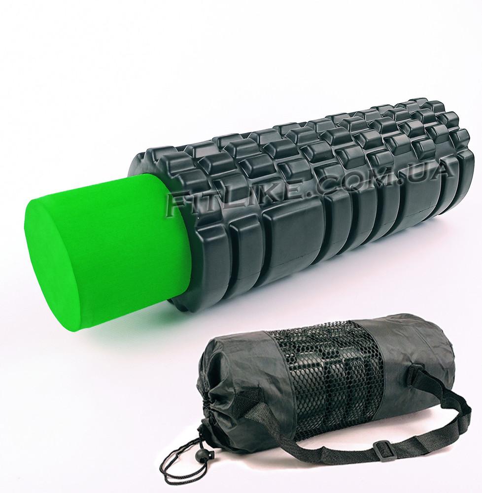 Массажный роллер + валик 33 см black roll double в чехле (валик для массажа спины и тела) подробнее: фото №1