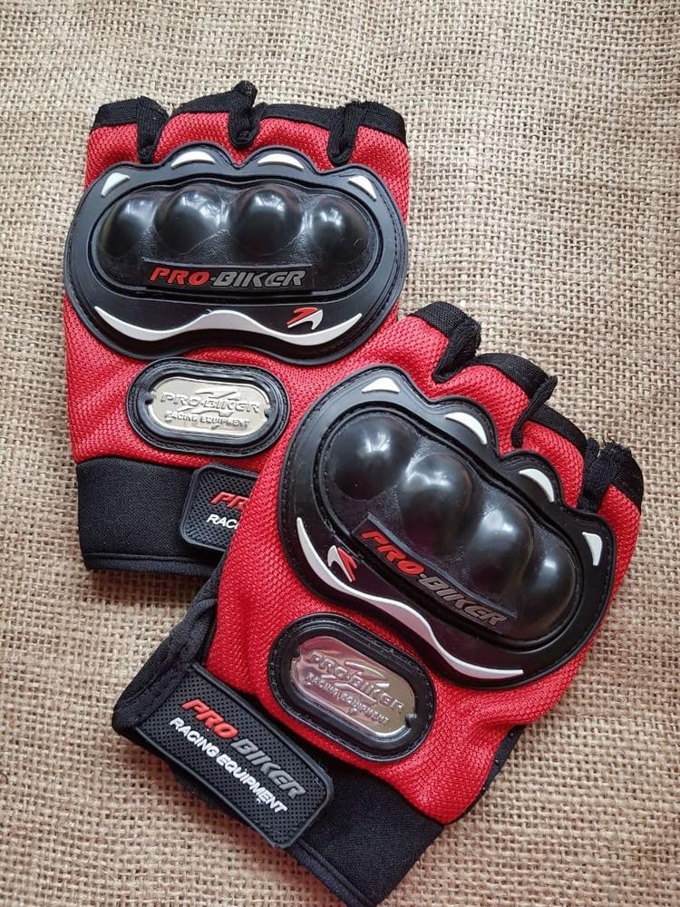 Велоcипедные перчатки с защитой без пальцев фото №1