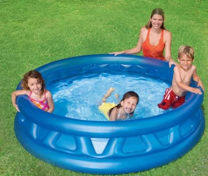 Детский надувной бассейн. фото №1