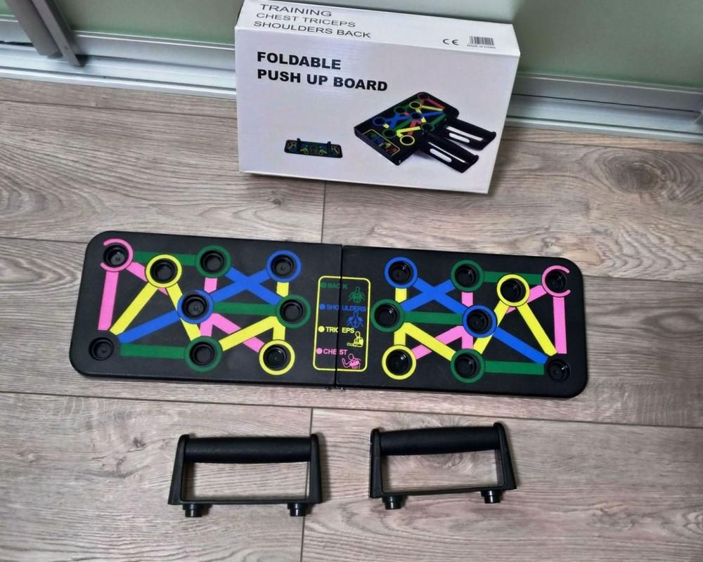 Доска упоры для отжиманий push up rack board эспандер тренажер пуш ап фото №1